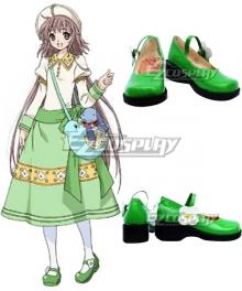 Kobato Kobato Hanato Green Cosplay Shoes