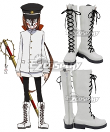 Kyousou Giga Inari White Shoes Cosplay Boots