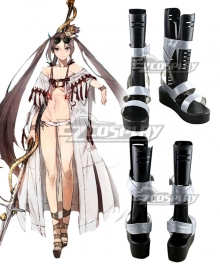 Fate Grand Order FGO Lancer Yu Miaoyi Swimsuit Black Cosplay Shoes