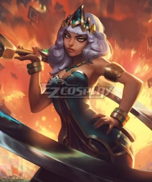 League of Legends Empress of the Elements Qiyana Cosplay Costume