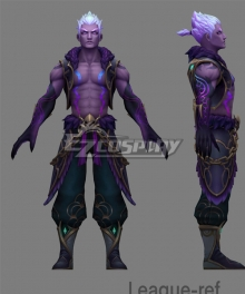 League Of Legends LOL Storm Dragon Lee Sin Cosplay Costume