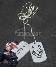 League Of Legends LOL 2020 KDA K/DA Akali Necklace Cosplay Accessory Prop
