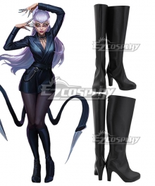 League Of Legends LOL 2020 KDA K/DA Evelynn Black Shoes Cosplay Boots