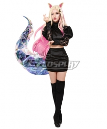 League Of Legends LOL 2020 KDA K/DA THE BADDEST Ahri Cosplay Costume