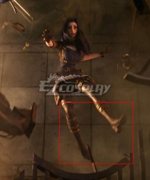 League Of Legends LOL 2020 Season Warriors Caitlyn Sniper Brown Shoes Cosplay Boots