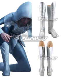 League Of Legends LOL 2020 Season Warriors Lux Silver Shoes Cosplay Boots