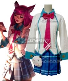 League of Legends LOL Academy Ahri The Nine Tailed Fox Cosplay Costume