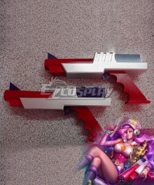 League Of Legends LOL Arcade Miss Fortune Red Two Guns Cosplay Weapon Prop