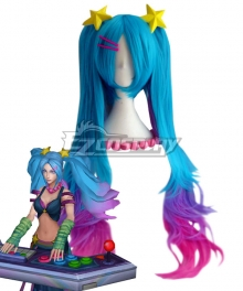 League of Legends LOL Arcade Sona Blue Cosplay Wig