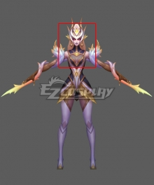 League Of Legends LOL Coven Zyra Prestige Edition Golden Cosplay Wig