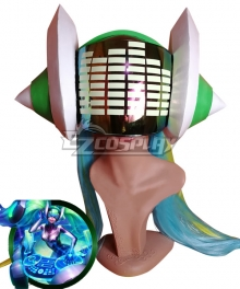 League of Legends LOL DJ Sona Kinetic Helmet Fluorescence Cosplay Accessory Prop
