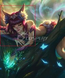 League Of Legends LOL Elderwood Ahri Skin Rose red Cosplay Wig