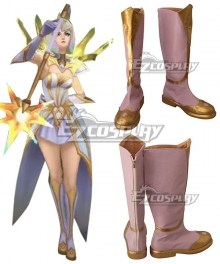 League of Legends LOL Elementalist Lux Golden Cosplay Shoes