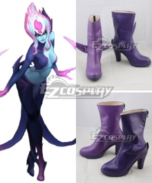 League Of Legends LOL  Evelynn Rework Agony Embrace Purple Blue Shoes Cosplay Boots