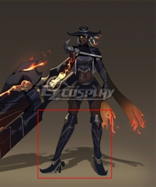 League of Legends LOL High Noon Senna Black Shoes Cosplay Boots