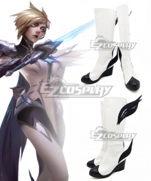 League Of Legends LOL Invictus Gaming's World Champion The Grand Duelist Fiora Laurent White Shoes Cosplay Boots