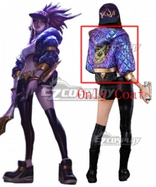 League Of Legends LOL KDA K/DA Akali Coat Cosplay Costume