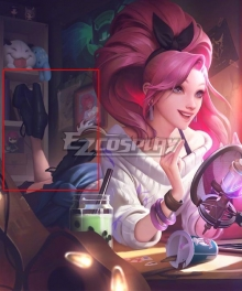 League Of Legends LOL K/DA ALL OUT Seraphine Indie Black Cosplay Shoes