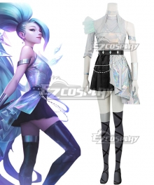 League Of Legends LOL KDA K/DA ALL OUT Seraphine Superstar Cosplay Costume