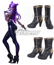 League Of Legends LOL KDA K/DA Kai'Sa Black Golden Cosplay Shoes