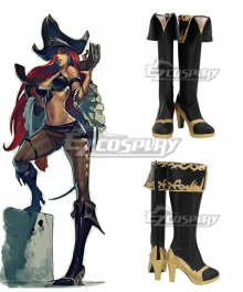 League Of Legends LOL Miss Fortune Black Shoes Cosplay Boots