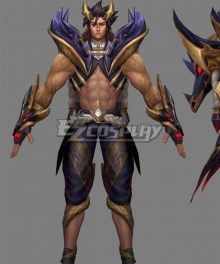 League Of Legends LOL Obsidian Dragon Sett Cosplay Costume