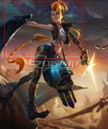 League Of Legends LOL Odyssey Jinx Skin Orange Cosplay Wig