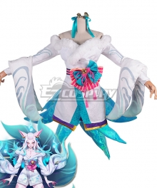 League of Legends LOL Spirit Blossom Ahri White Version Cosplay Costume