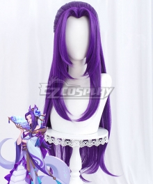 League of Legends LOL Spirit Blossom Cassiopeia Purple Cosplay Wig