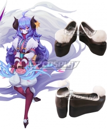 League of Legends LOL Spirit Blossom Kindred Black Cosplay Shoes