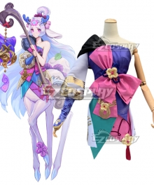 League of Legends LOL Spirit Blossom Lillia Cosplay Costume