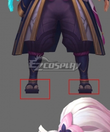 League of Legends LOL Spirit Blossom Yasuo Black Cosplay Shoes