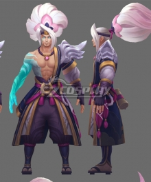 League of Legends LOL Spirit Blossom Yasuo Cosplay Costume