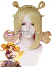 League of Legends LOL Star Guardian Neeko Prestige Edition Golden Cosplay Wig