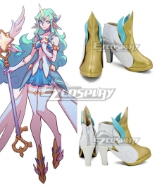 League Of Legends LOL Star Guardian Soraka Golden White Cosplay Shoes