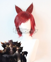 League of Legends LOL The Boss Sett Red Cosplay Wig - Including Ear