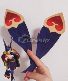 League Of Legends LOL The Rebel Sweetheart Xayah Two Feather Cosplay Accessory Prop