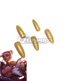 League of Legends LOL True Damage Qiyana Nail Cosplay Accessory Prop