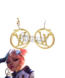 League of Legends LOL True Damage Qiyana Prestige Edition Earrings Earclip Cosplay Accessory Prop