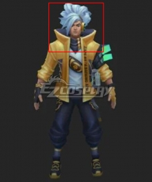 League of Legends LOL True Damage Yasuo Prestige Edition Blue Cosplay Wig