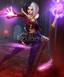 League Of Legends LOL Wicked LeBlanc Cosplay Costume