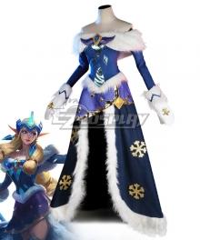 League Of Legends LOL Winter Wonder Soraka Skin Premium Edition Cosplay Costume-Including Headwear