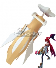 League of Legends Star Guardian Jinx White Cannon Cosplay Weapon Prop