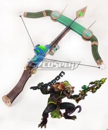 League Of Legends Twitch The Plague Rat Green Crossbow Cosplay Weapon Prop
