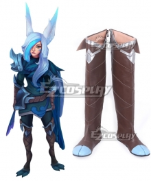 League of Legends Xayah the Rebel SSG Skin Brown Shoes Cosplay Boots