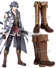 Legend of Heroes III Rean Schwarzer Brown Shoes Cosplay Boots