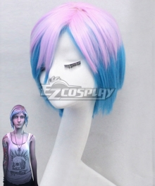 Life is Strange Chloe Price Blue Pink Cosplay Wig