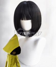 Little Nightmares Six Black Cosplay Wig