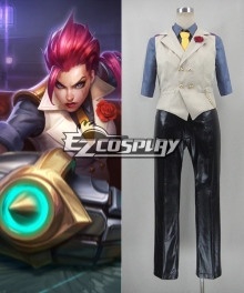 League of Legends the Prodigal Explorer Debonair Vi Cosplay Costume