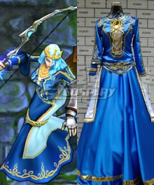 League of Legends LOL Essie Ice Shooter Empress Cosplay Costume